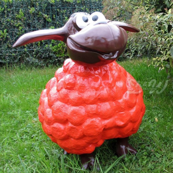 Wölkchen Schaf rot (groß) brauner Kopf