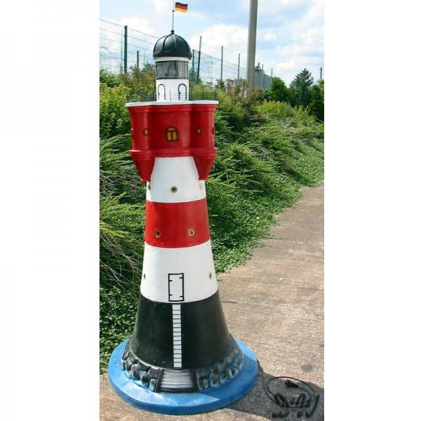 "Leuchtturm ""Roter Sand"" 180 cm rot-weiß - Fuß: 90 cm"