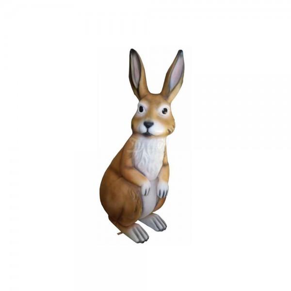 Osterhase 110 cm braun-weiß hockend (groß) Hase
