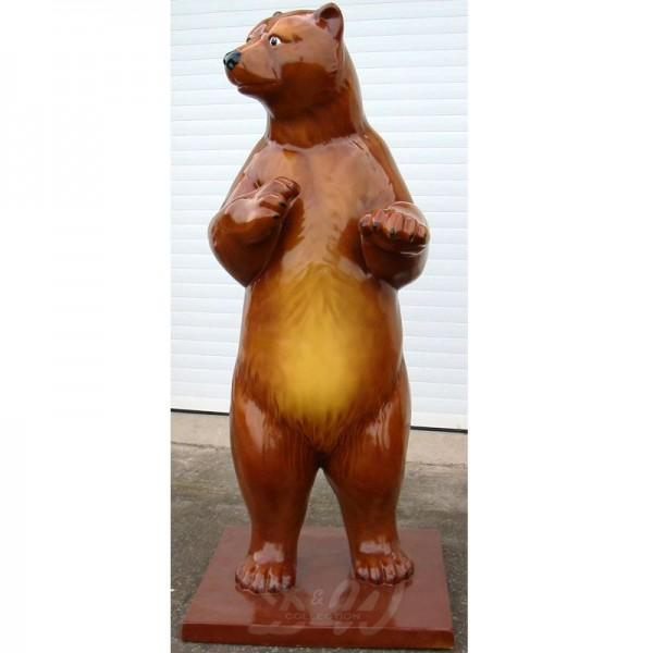 Bär braun aufrecht stehend (lebensgroß)