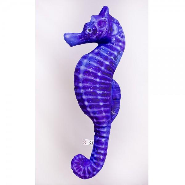 D&W Collection Deko Werbe Figur Fischkissen Seepferdchen blau Sea Horse Kuschelkissen Geschenk Angler Kinder Angel Sport