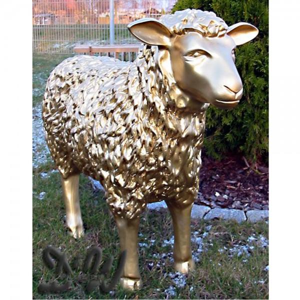 Schaf gold strukturiert (groß) Kopf geradeaus