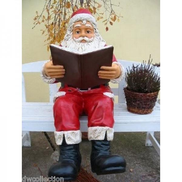 Weihnachtsmann sitzend mit Buch (groß)