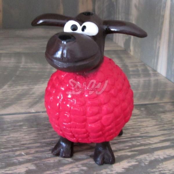 Wölkchen Schaf pink (mini) brauner Kopf