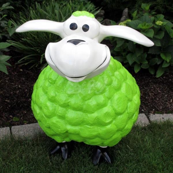 Wölkchen Schaf grün / limette (groß) weißer Kopf