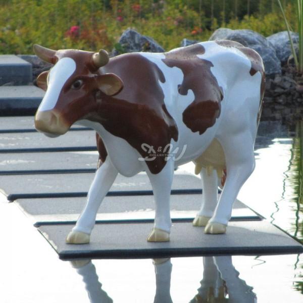 """Kuh friesisch """"Kopf gerade"""" braun-weiß (klein) Neues Modell!"""