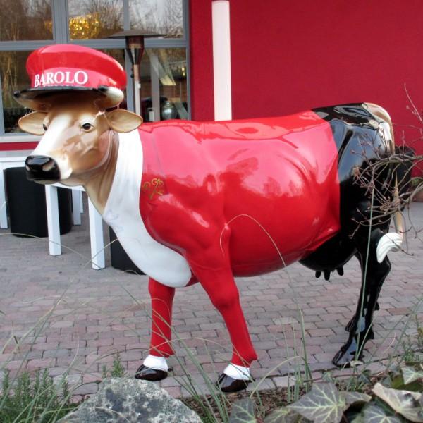 "Kuh mit Kunstbemalung ""Hotelpage"" (Lebensgroß)"