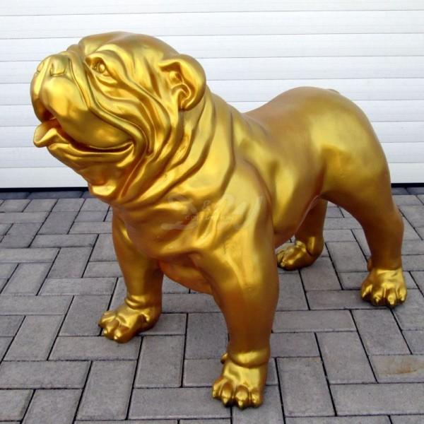 englische Bulldogge Hund gold (groß)