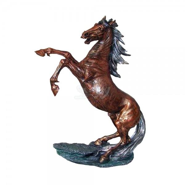 Pferd steigend (groß) bronze-grau Patina
