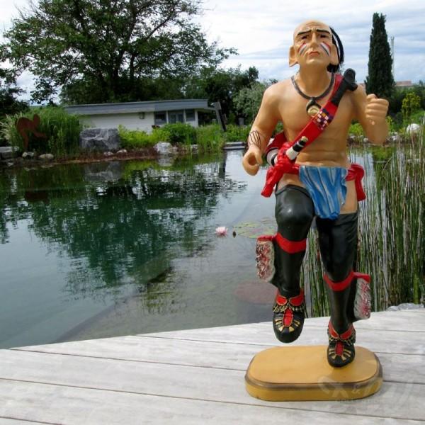 Indianer Kriegstanz tanzend 85 cm