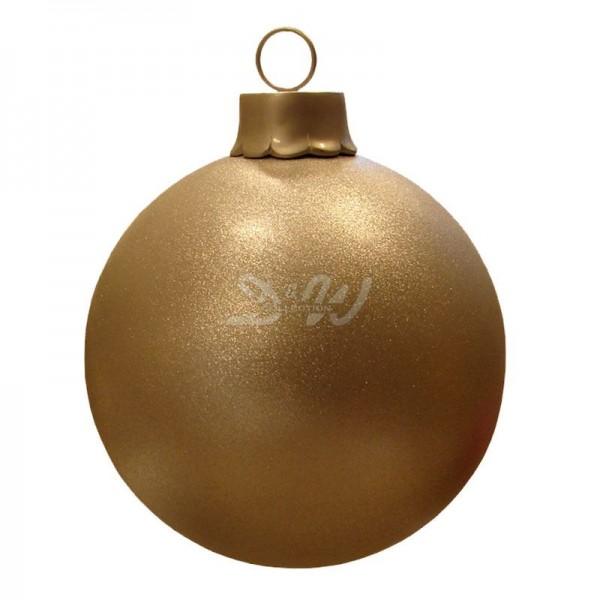 Weihnachtsbaum-Kugel 60 cm Durchmesser gold mit Glitter zum Aufhängen