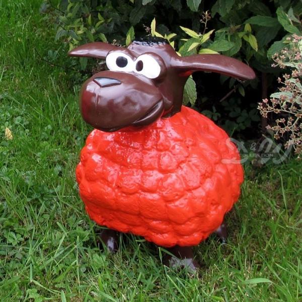 Wölkchen Schaf rot (klein) brauner Kopf