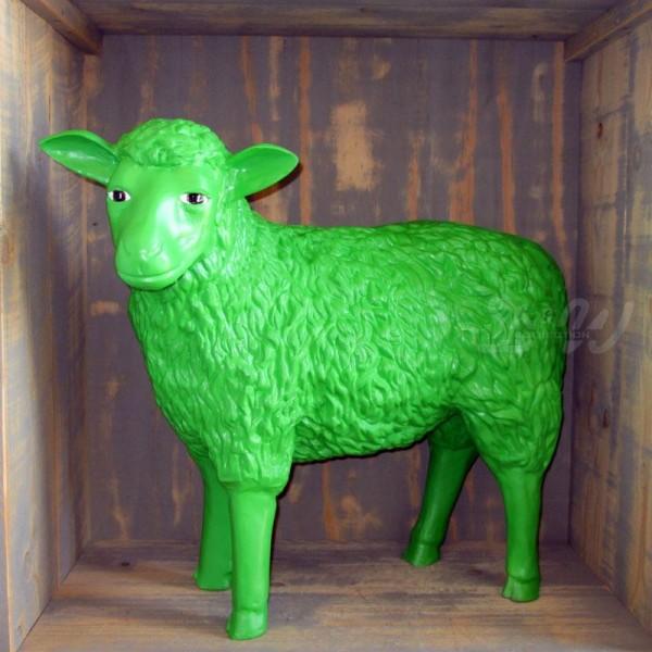 Schaf grün strukturiert (groß) Kopf zur Seite