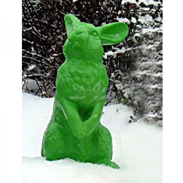 Osterhase aufrecht stehend Pop Art grün Hase