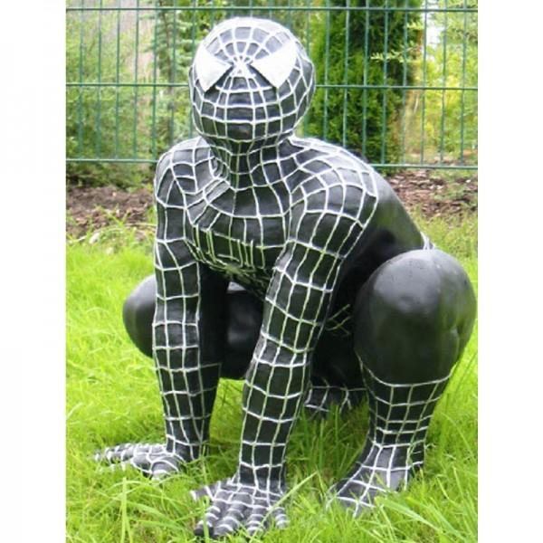 Spiderman hockend schwarz (groß)