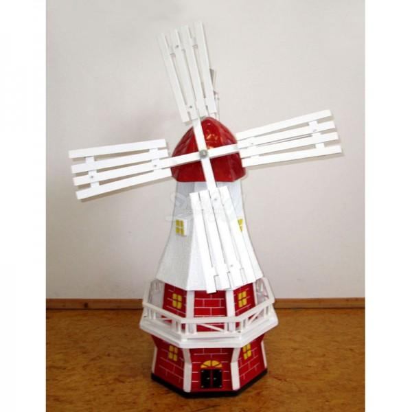 """Windmühle """"Nancy"""" mit Galerie rot-weiß - Kopfhöhe 80 cm"""