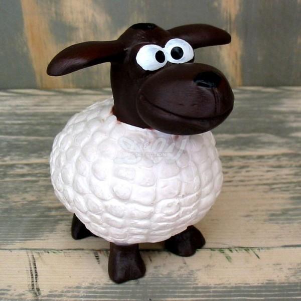 Wölkchen Schafe 10er Set weiß mit braunem Kopf (mini)