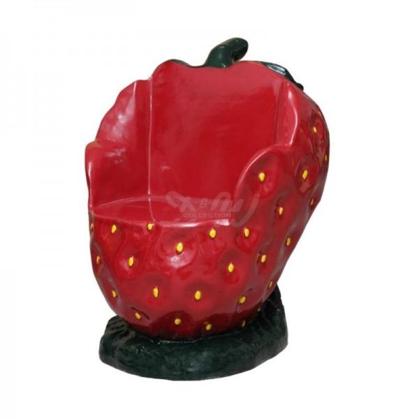Erdbeere Sessel 98 cm Möbel für Obsthof