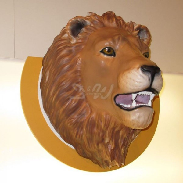D&W Collection Deko Werbe Tier Figur Schleich Löwen Kopf Lion Wand Dekoration günstig kaufen
