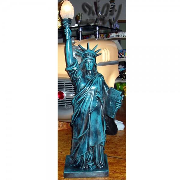Freiheitsstatue 118 cm grün-patina